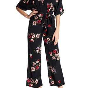 Emory Park floral print jumpsuit small